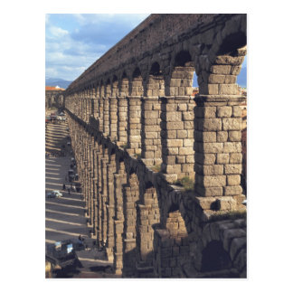 Europe, Spain, Segovia. Late light casts shadows Postcard