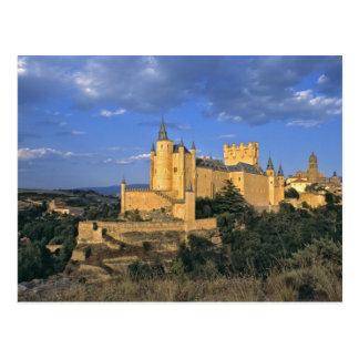 Europe, Spain, Segovia. The Alcazar, a World Postcard