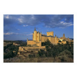 Europe, Spain, Segovia. The Alcazar, a World Poster