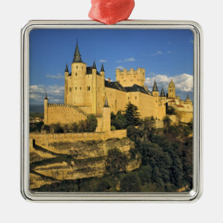 Europe, Spain, Segovia. The imposing Alcazar, Christmas Ornament