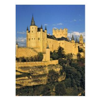 Europe, Spain, Segovia. The imposing Alcazar, Postcard