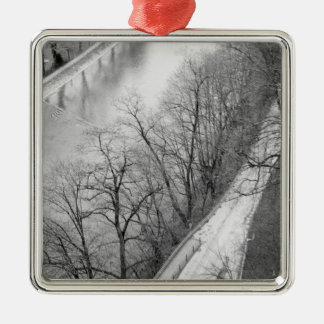 Europe, Switzerland, Bern. Overview of the Aare Christmas Ornament