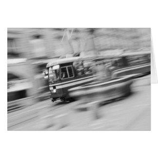 Europe, Switzerland, Bern. Tram, Marktgasse 2 Card