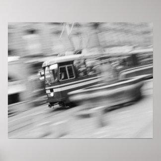 Europe, Switzerland, Bern. Tram, Marktgasse 2 Poster