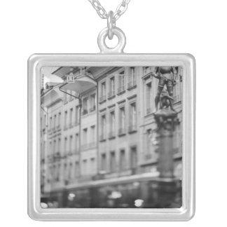 Europe, Switzerland, Bern. Tram, Marktgasse Silver Plated Necklace