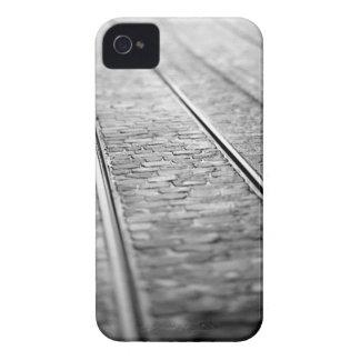 Europe, Switzerland, Bern. Tram tracks, 2 Case-Mate iPhone 4 Case