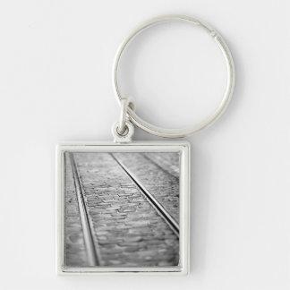 Europe, Switzerland, Bern. Tram tracks, 2 Key Ring