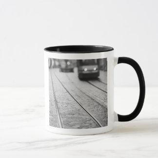 Europe, Switzerland, Berne. Tram tracks, Mug