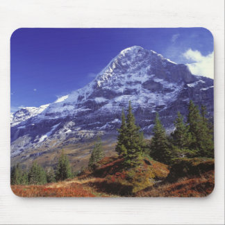 Europe, Switzerland, Eiger. Fall colors abound Mouse Mat