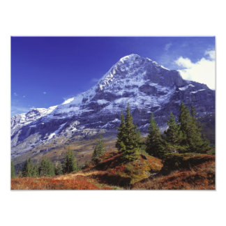 Europe Switzerland Eiger Fall colors abound Photo