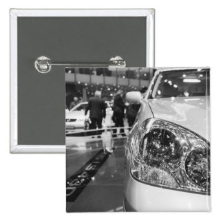 Europe, Switzerland, Geneva. Geneva Motor Show; 2 15 Cm Square Badge