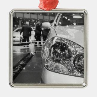 Europe, Switzerland, Geneva. Geneva Motor Show; 2 Christmas Ornament