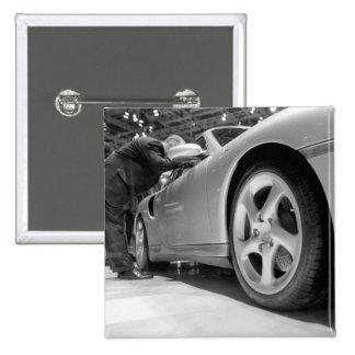 Europe, Switzerland, Geneva. Geneva Motor Show; 5 15 Cm Square Badge