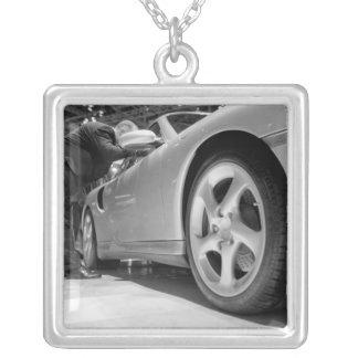 Europe, Switzerland, Geneva. Geneva Motor Show; 5 Silver Plated Necklace