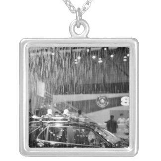 Europe, Switzerland, Geneva. Geneva Motor Show; Silver Plated Necklace