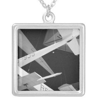 Europe, Switzerland, Lucerne. Aerial glider Silver Plated Necklace
