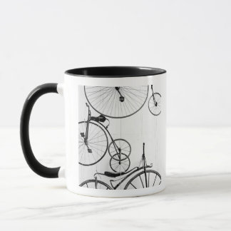 Europe, Switzerland, Lucerne. Bicycle display, Mug