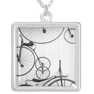 Europe, Switzerland, Lucerne. Bicycle display, Silver Plated Necklace
