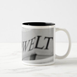 Europe, Switzerland, Lucerne. Die Welt The World Two-Tone Coffee Mug