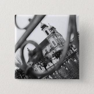 Europe, Switzerland, Lucerne. Jesuit church 15 Cm Square Badge