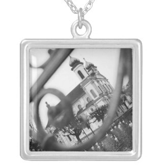 Europe, Switzerland, Lucerne. Jesuit church Silver Plated Necklace