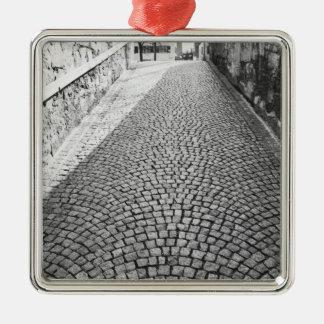 Europe, Switzerland, Zurich. Cobbled street, Christmas Ornament