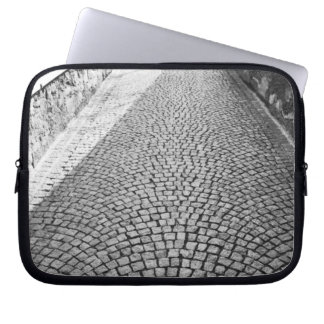 Europe, Switzerland, Zurich. Cobbled street, Laptop Sleeve