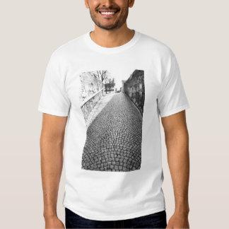 Europe, Switzerland, Zurich. Cobbled street, T-shirt