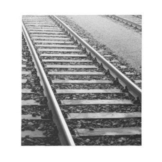 Europe, Switzerland, Zurich. Train tracks Notepad