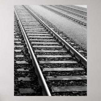 Europe, Switzerland, Zurich. Train tracks Poster
