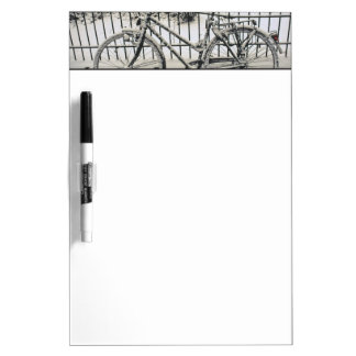 Europe, The Netherlands, Amsterdam. A Dry Erase Board