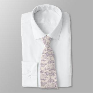 Europe town pattern - ivory tie