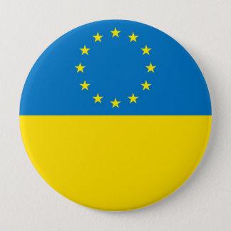 EUROPE UKRAINE 10 CM ROUND BADGE