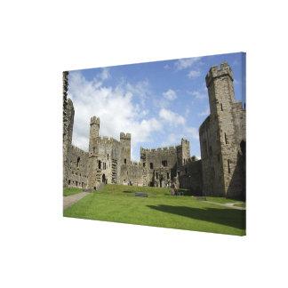 Europe, Wales, Caernarfon. Caernarfon Castle, Canvas Print