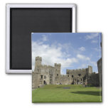 Europe, Wales, Caernarfon. Caernarfon Castle, Square Magnet