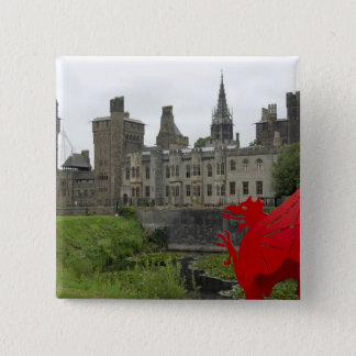 Europe, Wales, Cardiff. Cardiff Castle. Welsh 2 15 Cm Square Badge