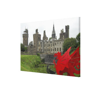 Europe, Wales, Cardiff. Cardiff Castle. Welsh 2 Canvas Print