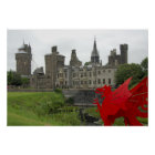 Europe, Wales, Cardiff. Cardiff Castle. Welsh 2 Poster