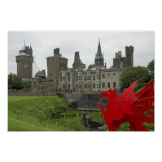 Europe Wales Cardiff Cardiff Castle Welsh 2 Print