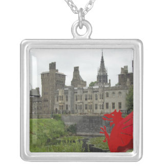 Europe, Wales, Cardiff. Cardiff Castle. Welsh 2 Silver Plated Necklace