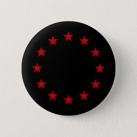 European Anarchist Flag 6 Cm Round Badge
