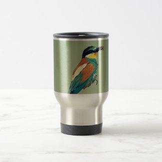 European Bee-Eater Vintage Retro Style Mint Green Mug