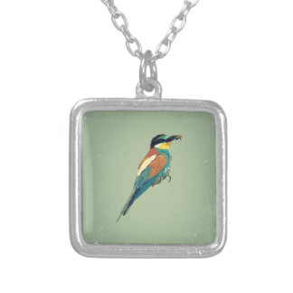 European Bee-Eater Vintage Retro Style Mint Green Necklaces