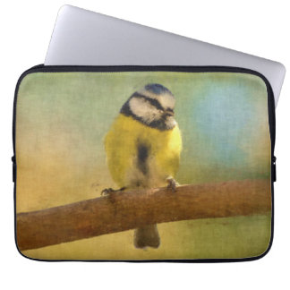 European bluetit digital painting laptop sleeve