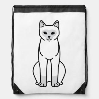 European Burmese Cat Cartoon Drawstring Backpacks