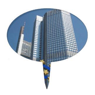 European Central Bank in Frankfurt am Main Cake Pick