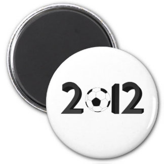 European Championship 2012 6 Cm Round Magnet