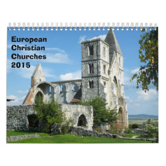 European Christian Churches  2015 Wall Calendars