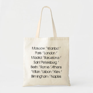 European Cities by Population Budget Tote Bag
