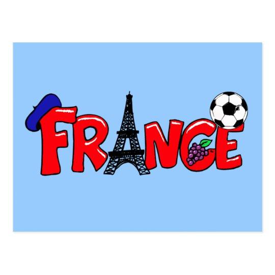 European cup - Euro 2012 French Fans France ball Postcard